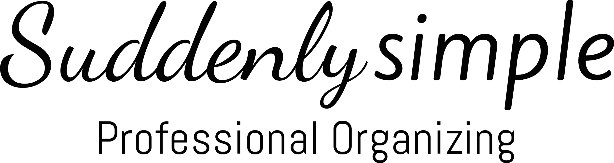 Suddenly Simple Professional Organizing black logo.