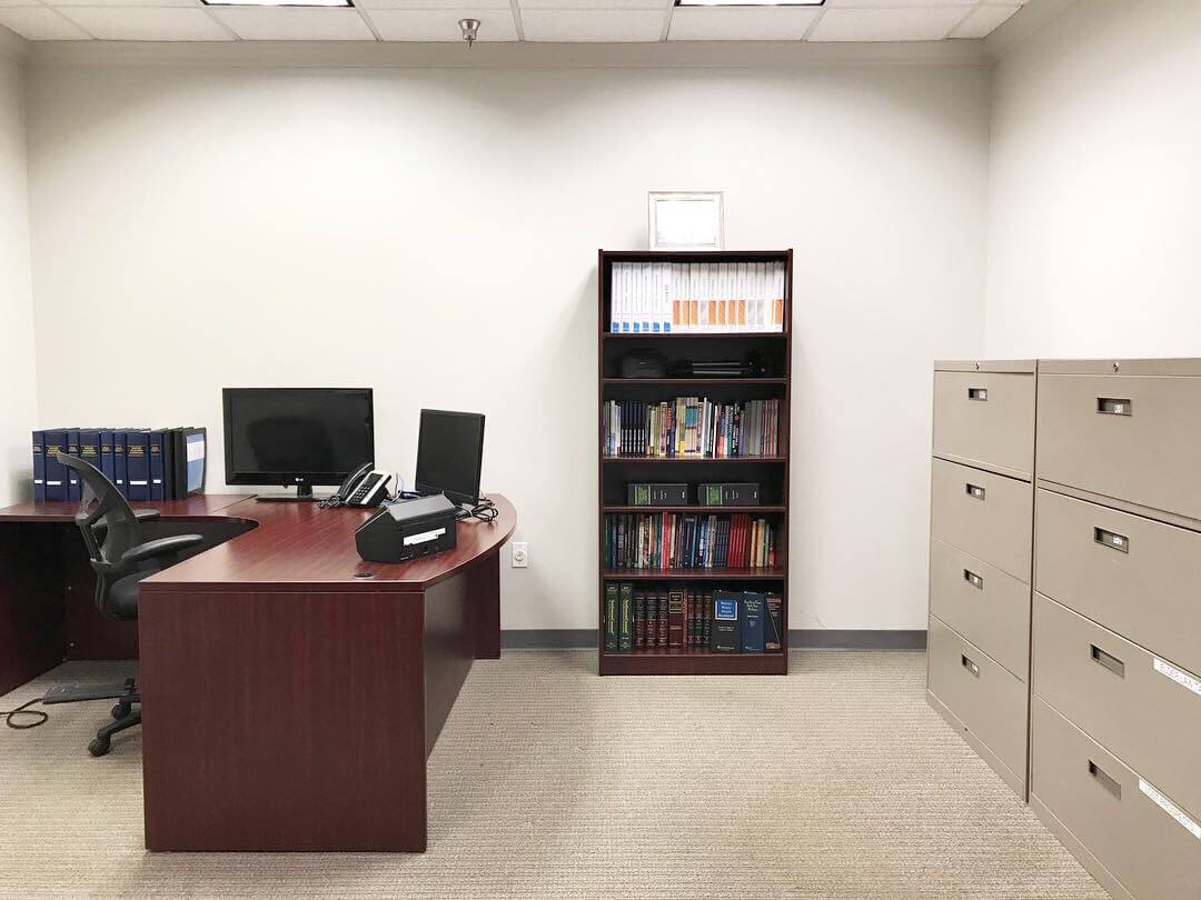 We removed the cubicles in this office and created a more professional feel.