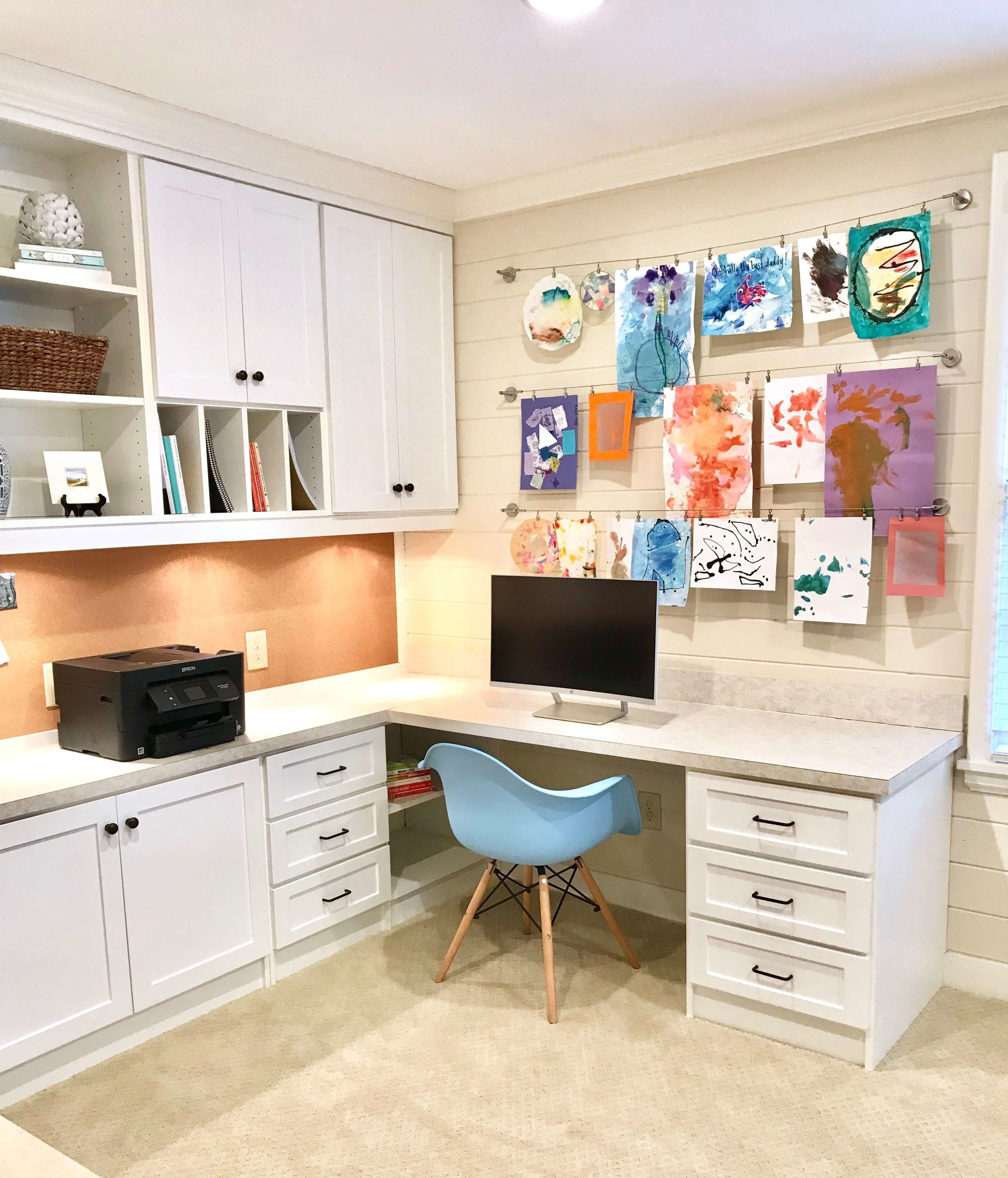 A clean and organized home office will help you be more productive.