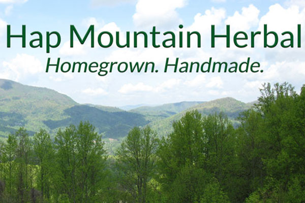 - Hap Mountain Herbal's first-aid remedies, skin-care products, and herbal lip balms are handmade with plants we grow organically in our garden or harvest wild near our remote mountain homestead farm outside Asheville, NC. Our product line is limited and often changes, so it can be sustainable and healthy for the plants we grow and harvest, for our farm and forest, for our small family business, and for our customers. For current product descriptions and photos of the plants we use, please see our website:  www.HapMountainHerbal.com.
