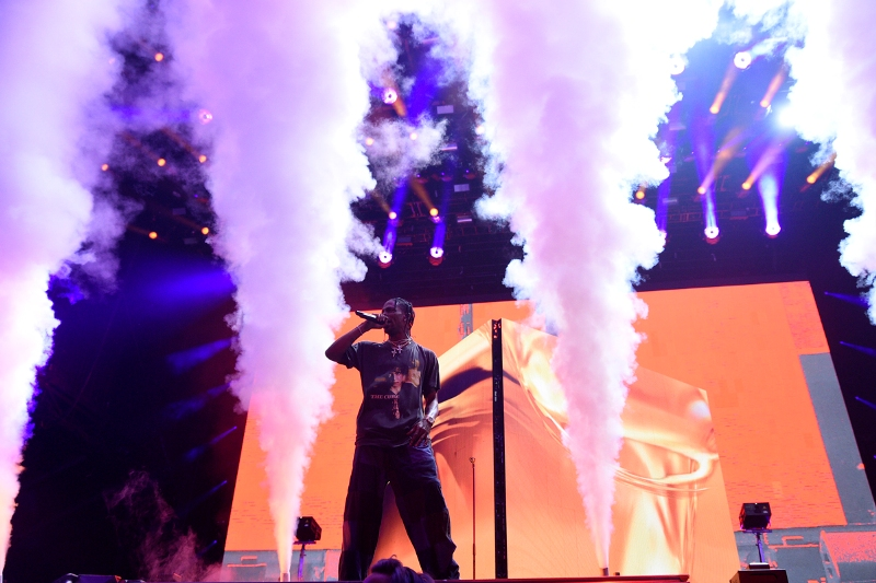 Travis Scott performing at Parc Jean Drapeau this past Friday. Photo by Cindy Lopez.