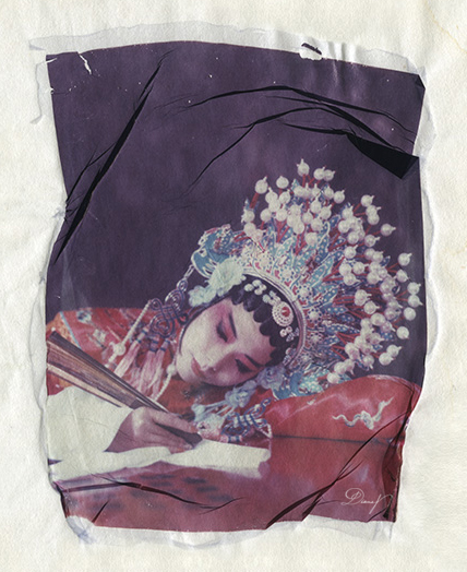 China - the drunken beauty - Rice paper