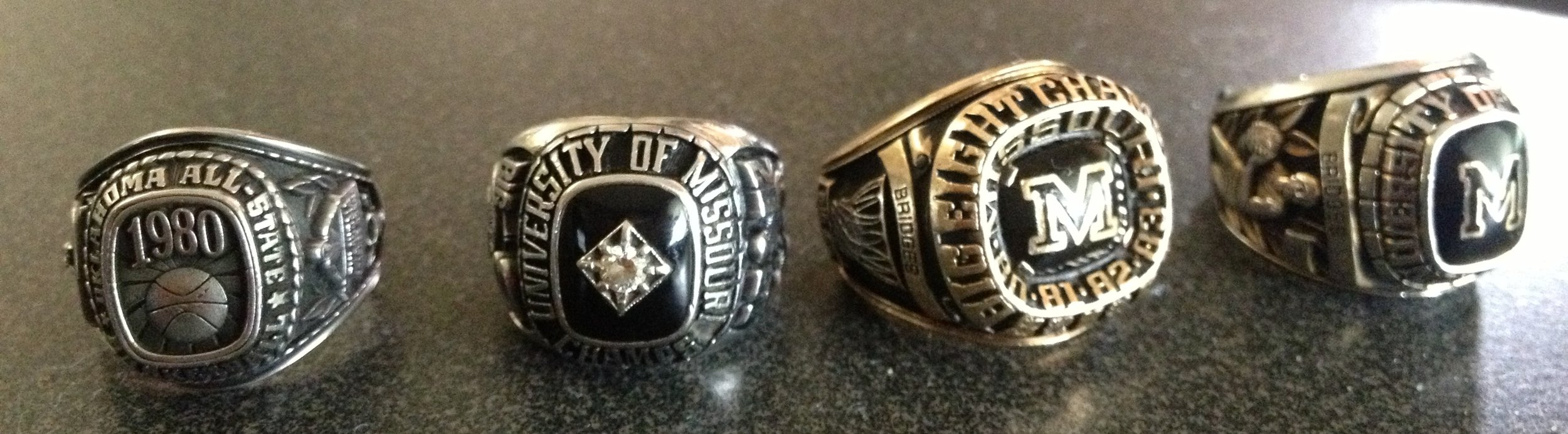 Prince Bridges All State, Big 8 Championship 1 & 2 and Senior Rings.Training is the answer.