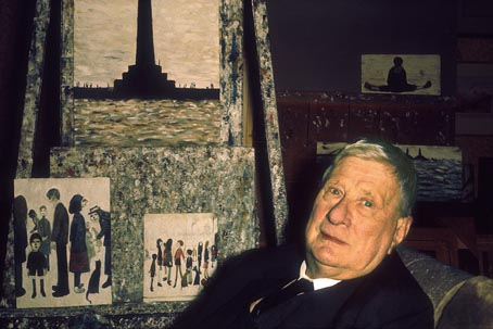 LS Lowry at home (1968)