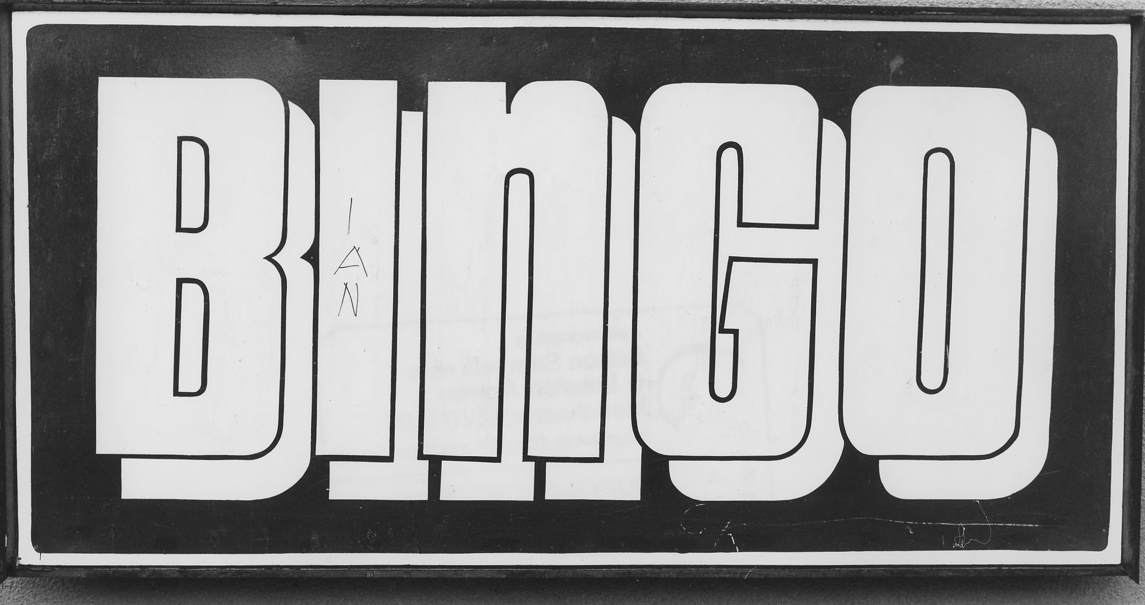 Bingo sign, Rawtensall (1980)