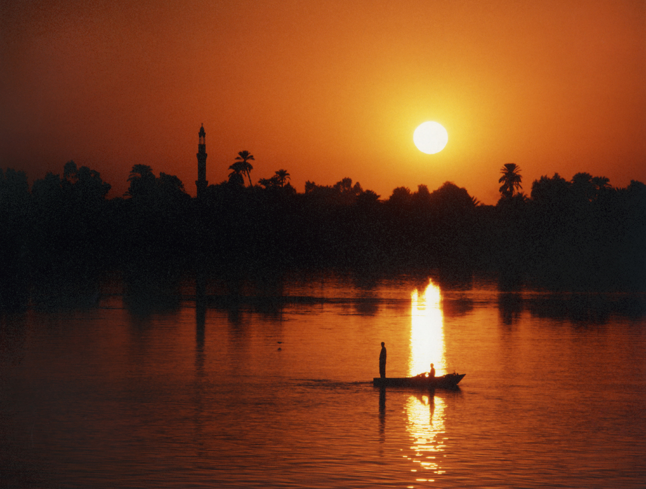 Sunset on the Nile, Egypt
