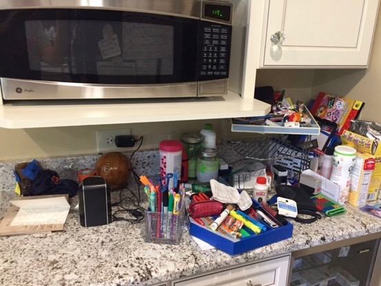 Kitchen counters are clutter magnets!