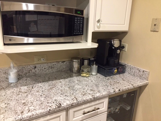 created a neat and tidy coffee station and found a home for all the rest!