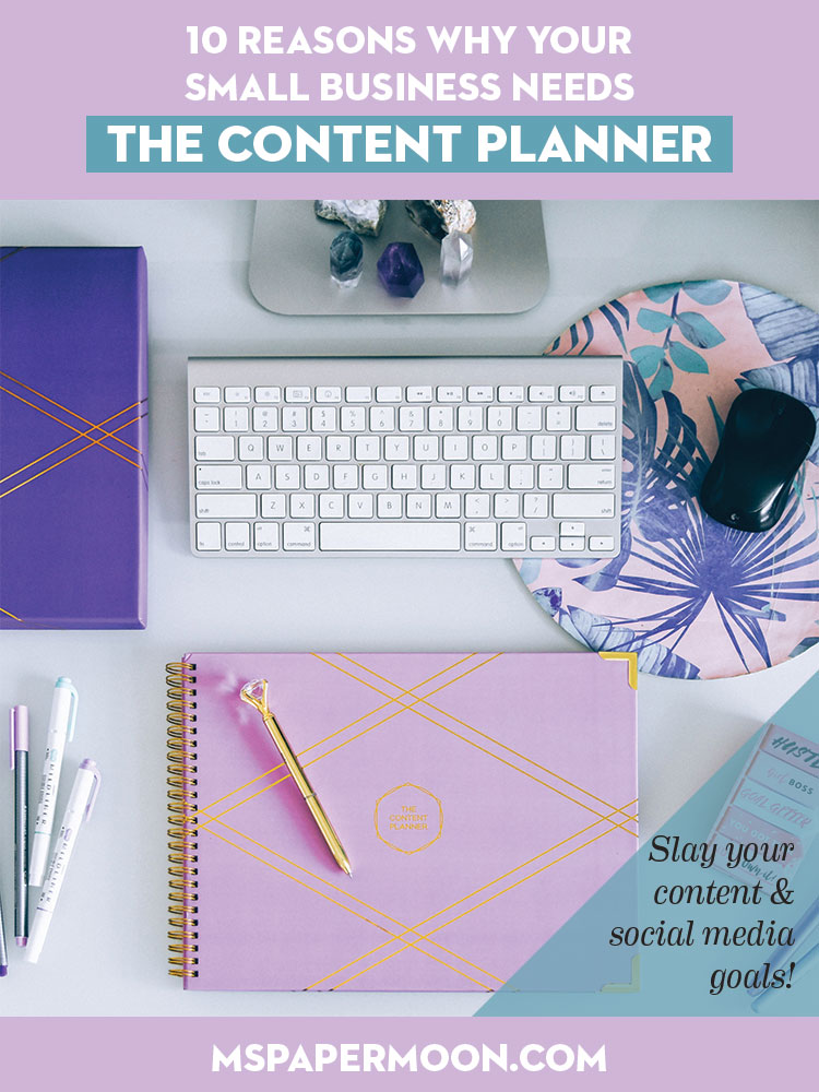 The Content Planner by Kat Gaskin will help small business owners plan out their social media and website content. Easily plan your blog posts, Instagram posts, and other social media, keep on top of your posting schedule, and profit from your content marketing!