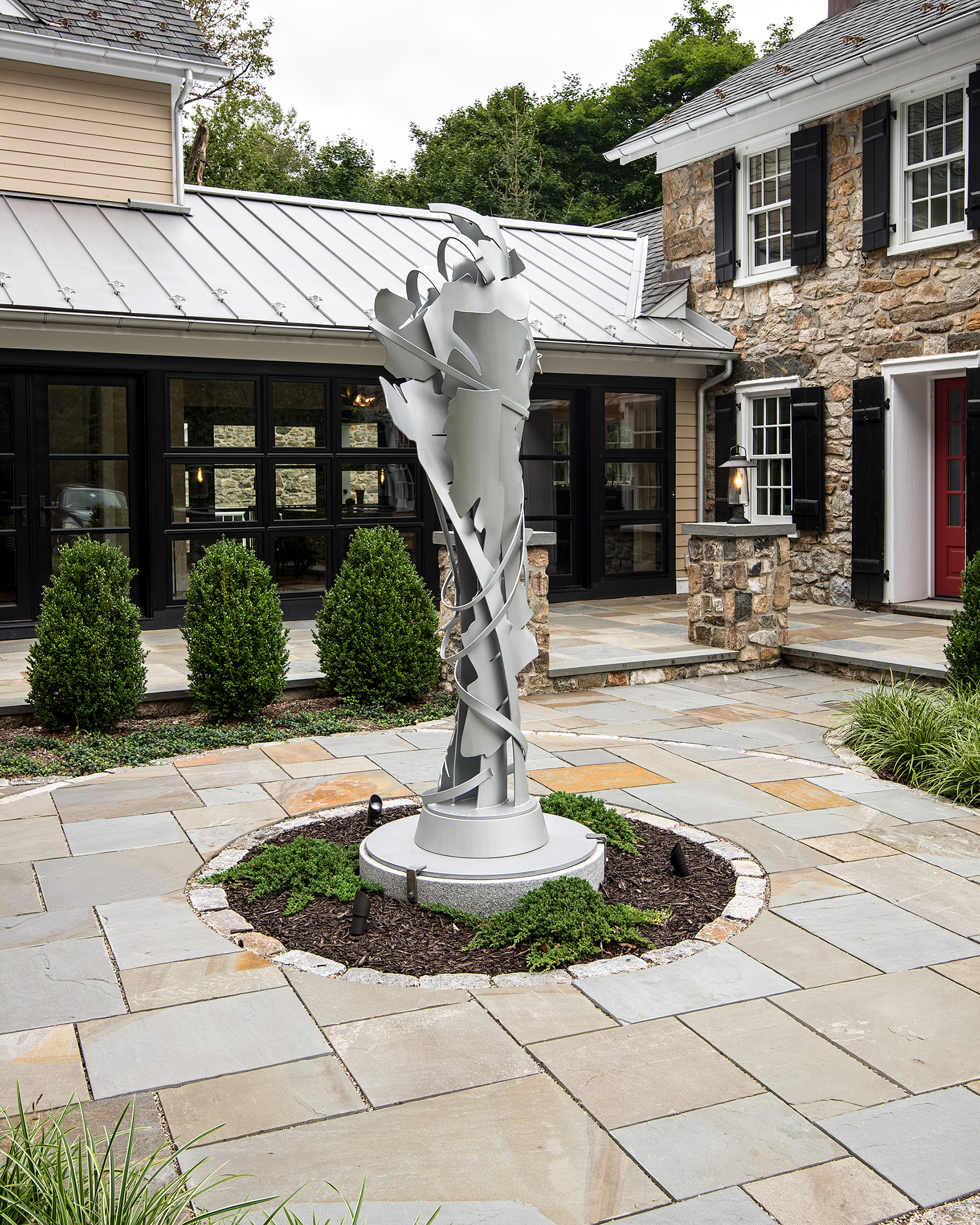 Albert Paley  Coalescence,  2015, stainless steel