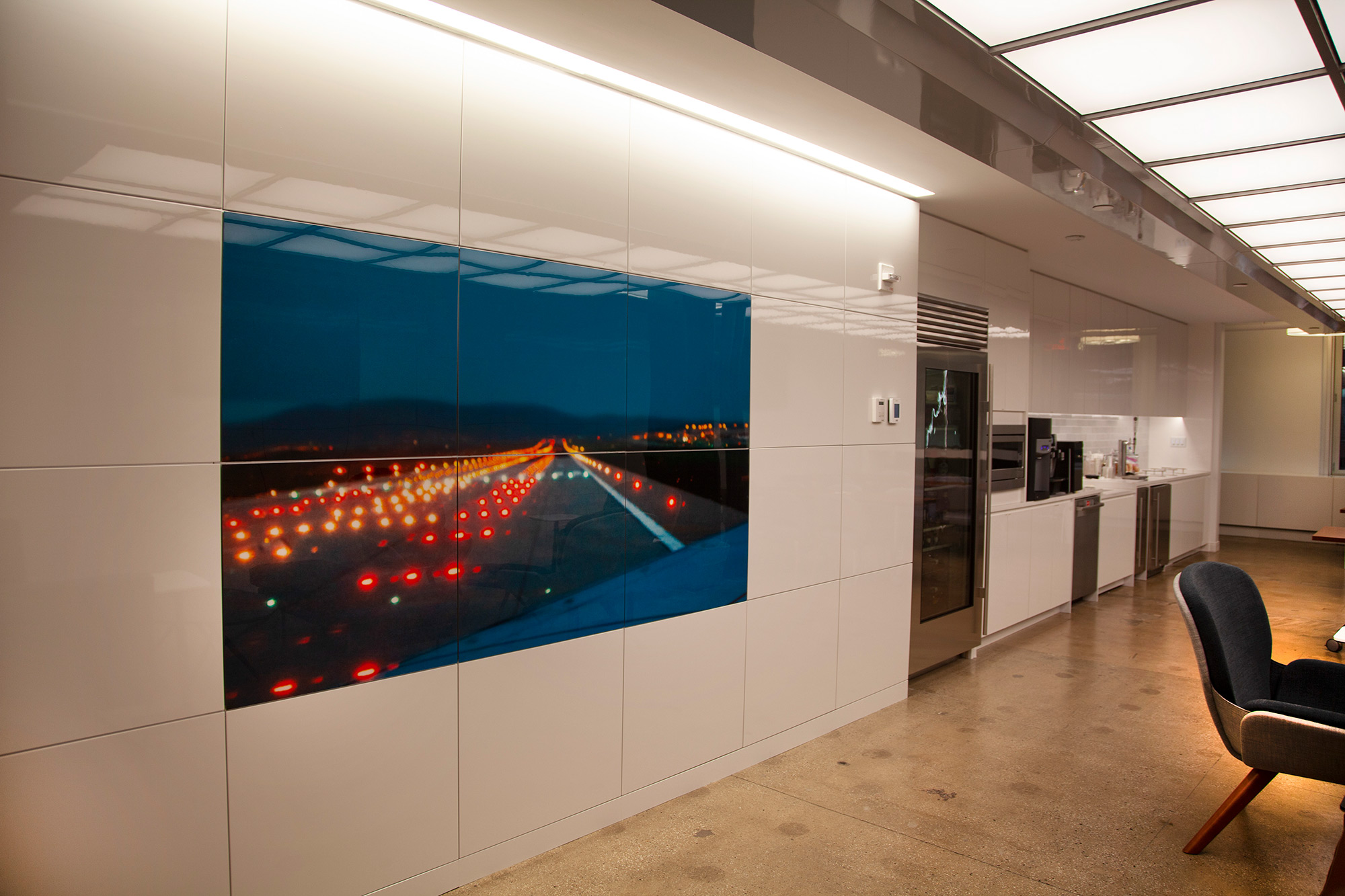 Custom photograph installation integrated with architecture, New York, New York