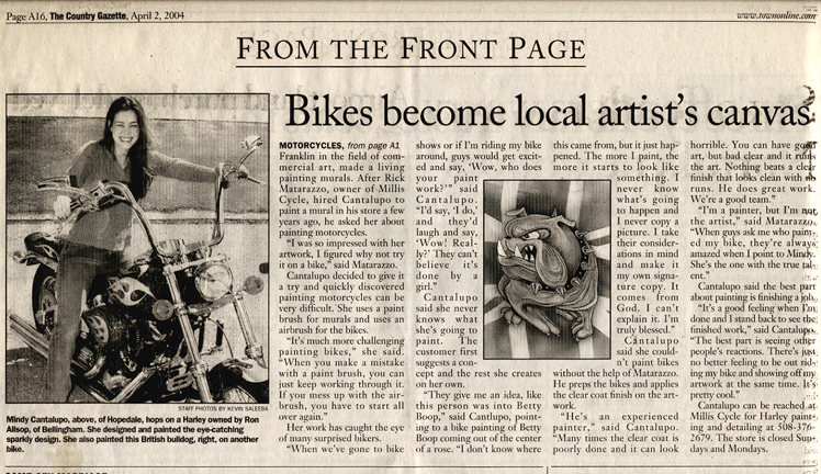 Here my bike was written up in the local Boston newspaper!