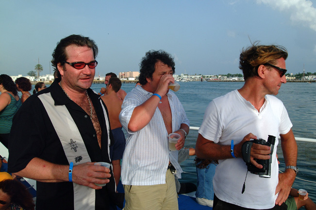 My brother John (on right) and Hoss --a boat trip off Key West.