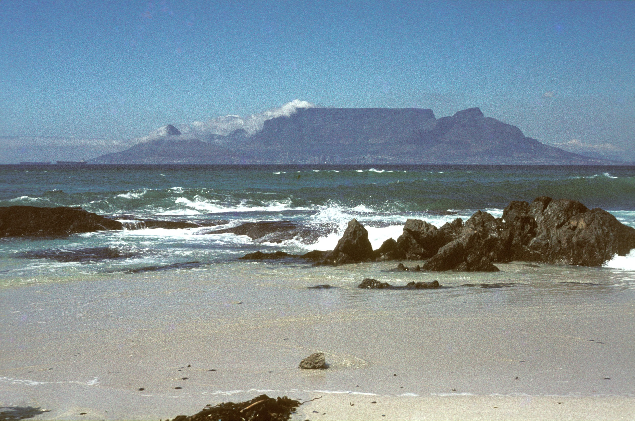 Table Mountain. The cloud cover is called the Table Cloth.