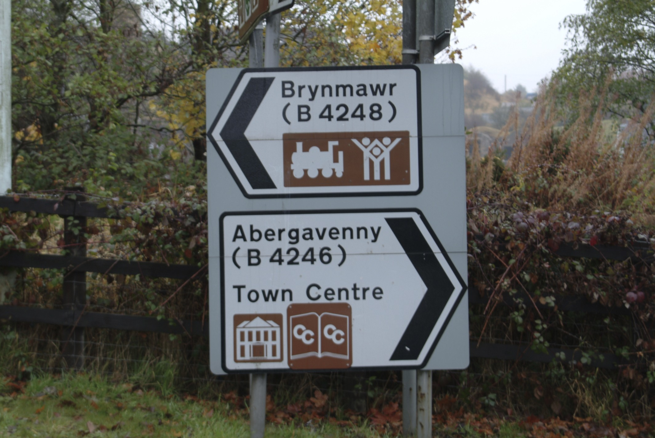 Brynmawr left. On the road to Knocker's house.