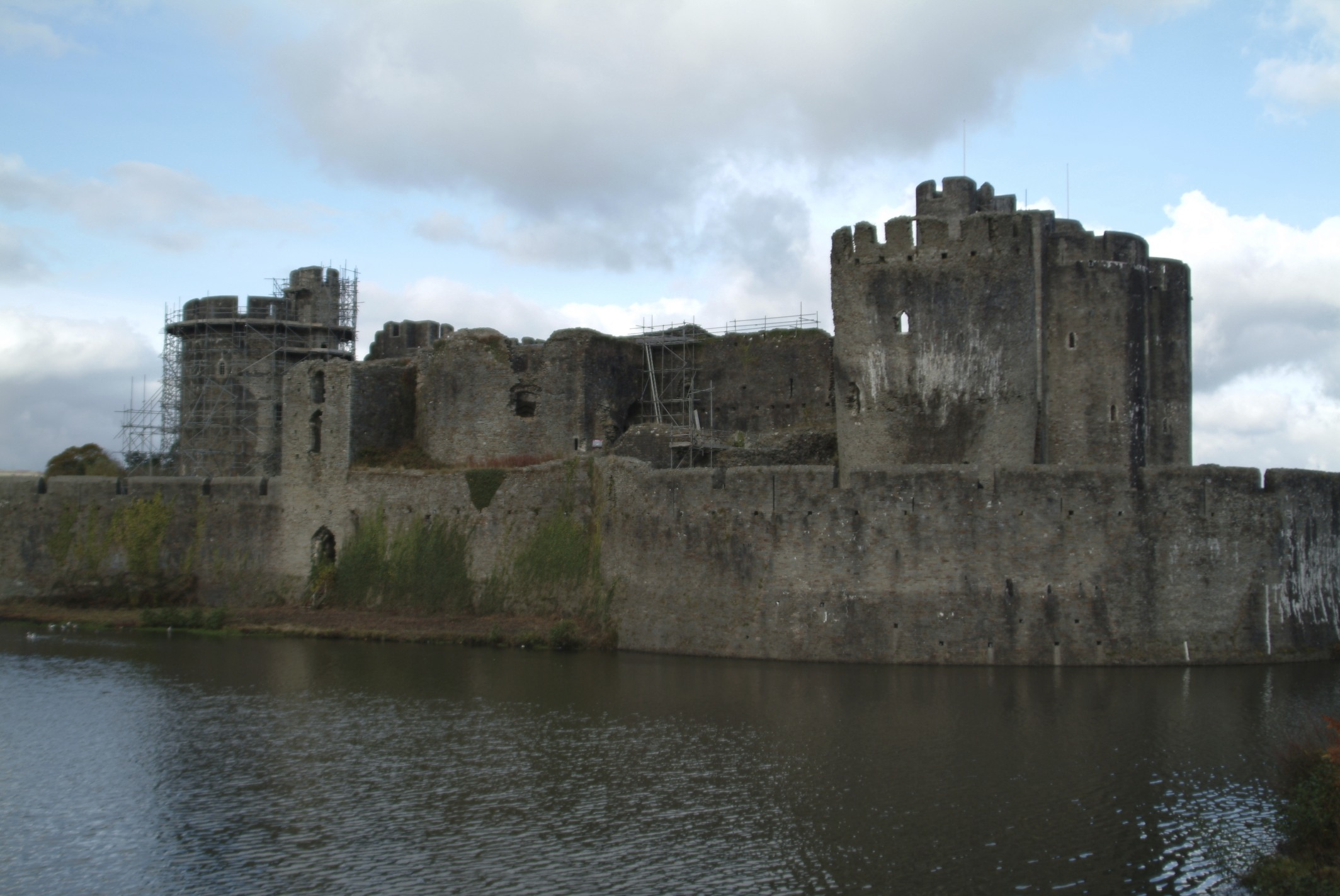 Beautiful Caerphilly Castle