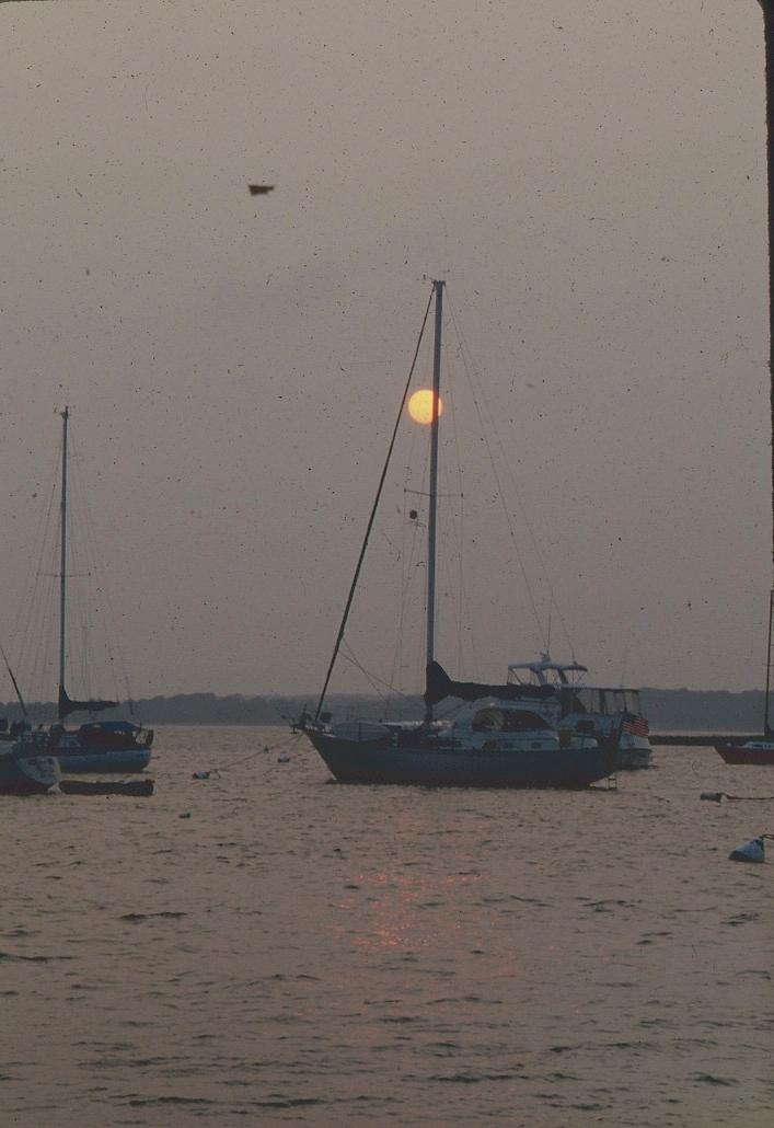 Anchored at Montauk NY after a 7 day sail from S Carolina.