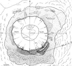 This is Barringer's diagram of meteoritic deposits.