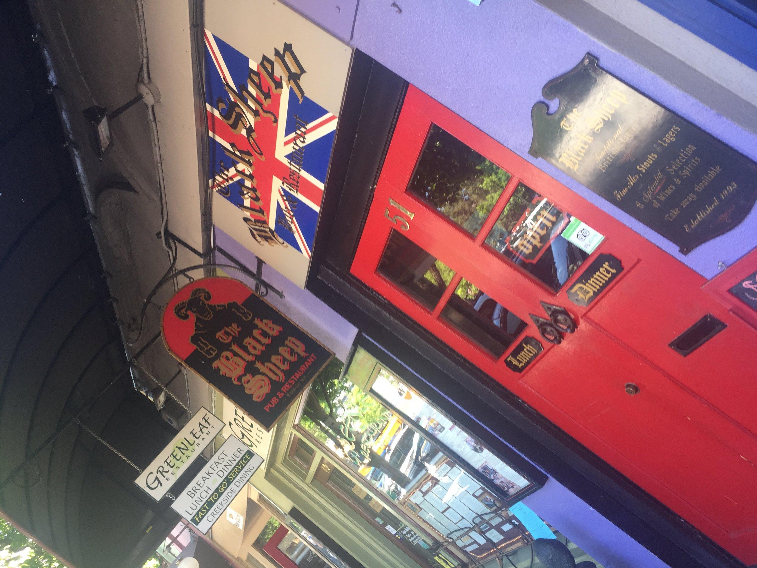English pub The Black Sheep is no more. Closed down just last week