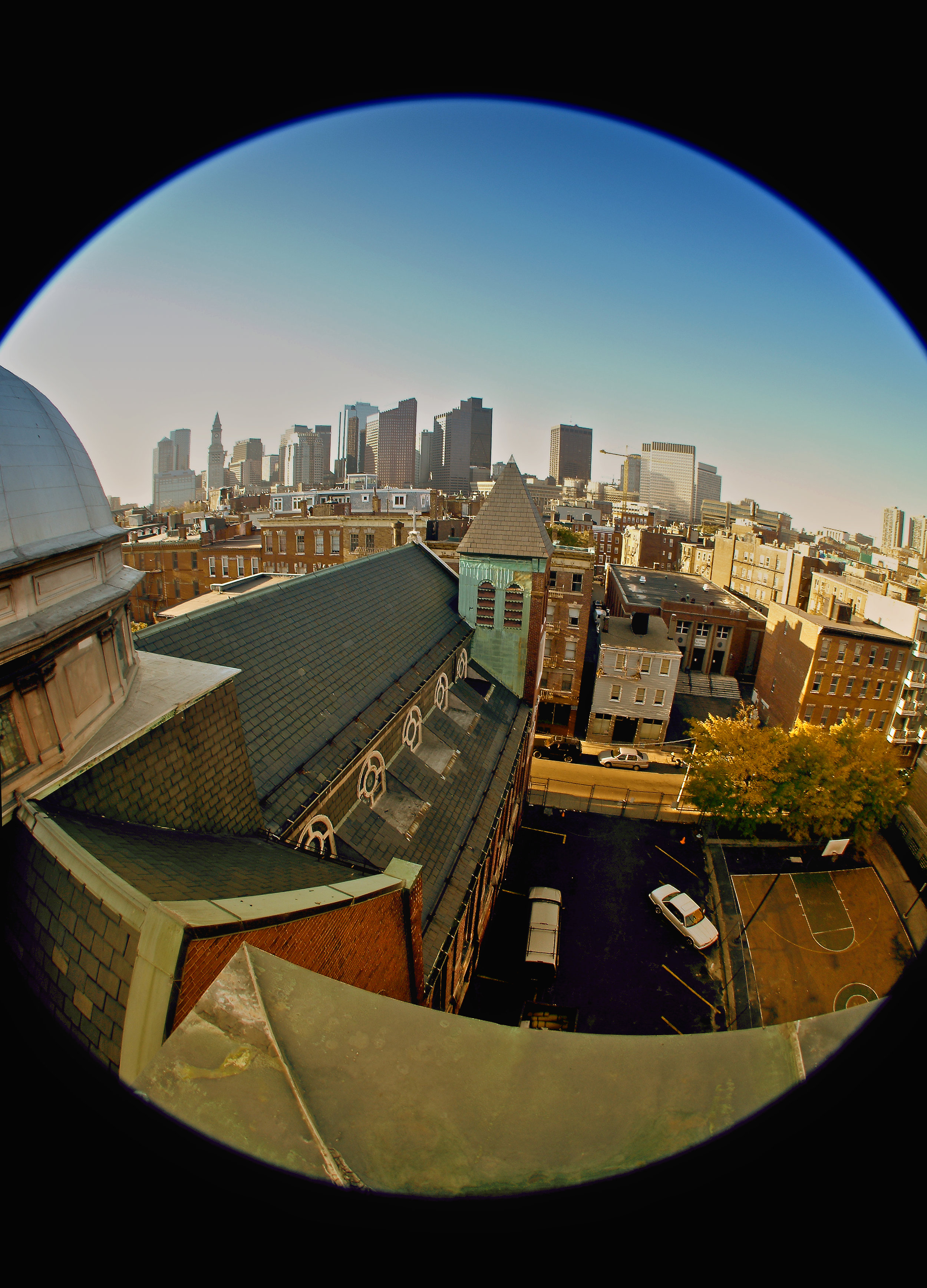 From the roof of St Christophers Friary- Boston