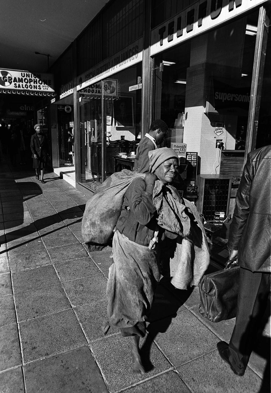 Homeless in the City of Johannesburg.
