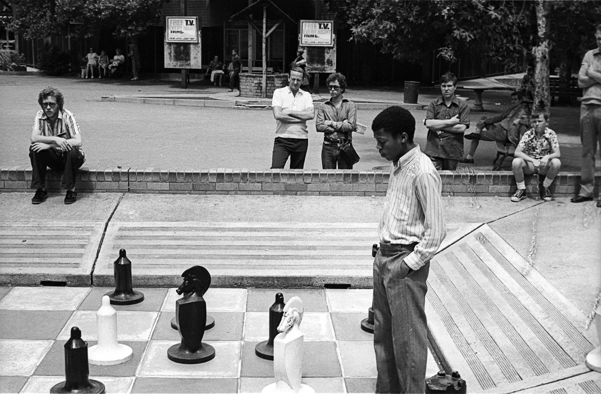 Chess in Joubert Park.