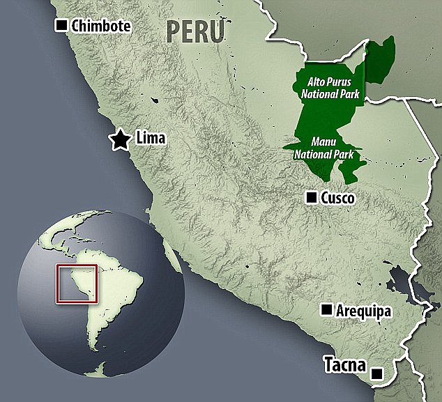 This map shows the general area we were in on the Peru/Bolivia border.