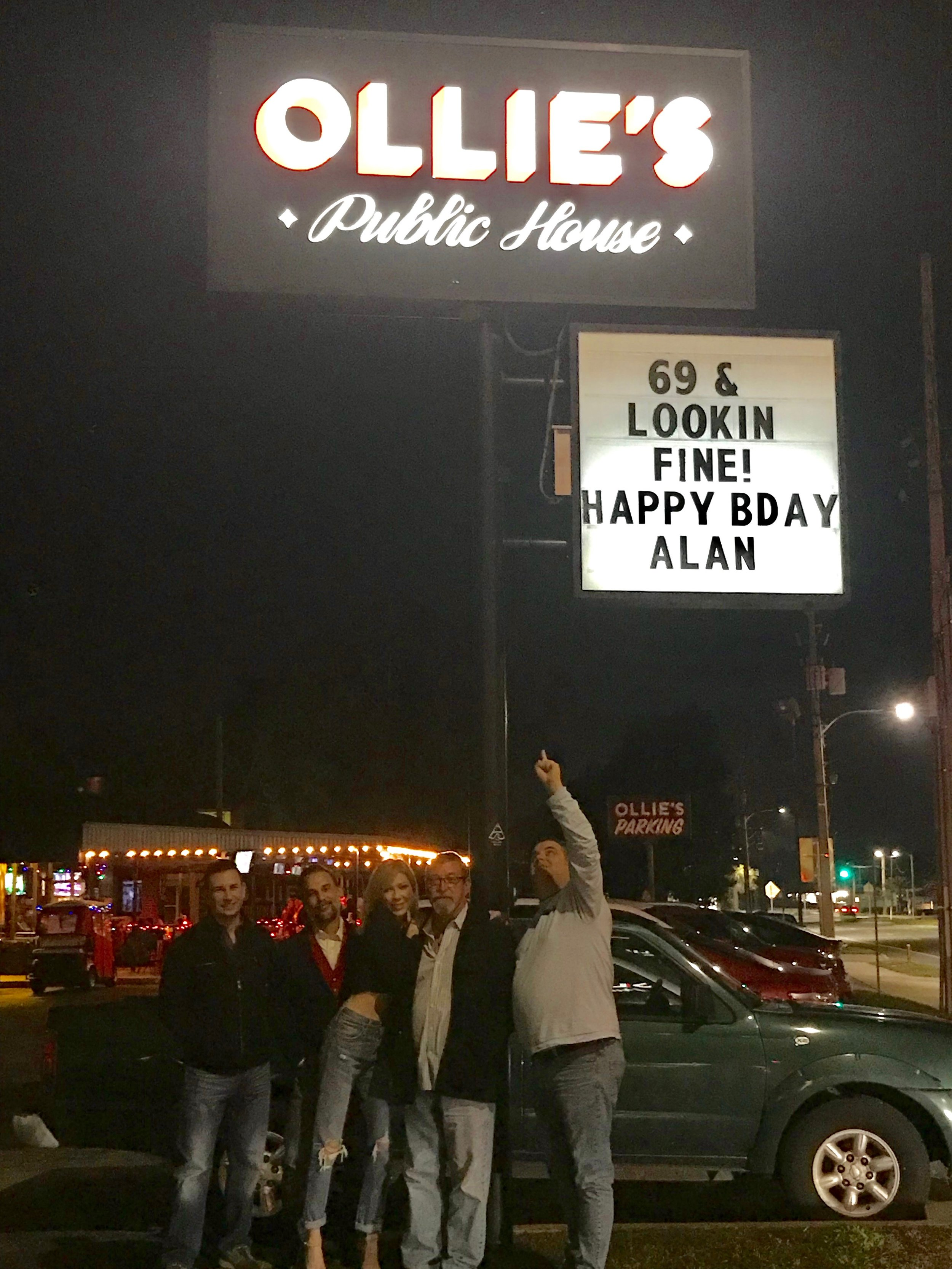 They gave me a great 69th birthday on Dec 24th 2018-yes and even Matt came with his beautiful lady friend.
