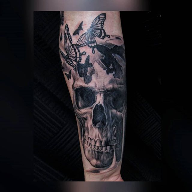 Fresh pic of ink hot off the press! Maybe half of you will get that joke lmao love this sweet custom forearm piece done recently! What ya think? . . . #ink #inkedgirls #tattoolife #tattooed #inked #realistictattoo #tattoist #inkedlife #tattoos #inklife #tattooedgirls #inkstagram #greywashtattoo #instatattoo #sleevetattoo #instaart #tattooart #skulltattoo #tattoo #butterflytattoo #tattooartist #instatag #tatts #inkedup #instagramanet #inkedgirl #inkaddict #bishopbrigade