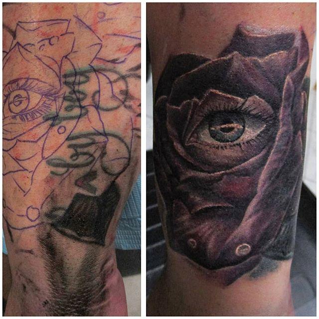 Peep this lil cover up I did recently 👀😅 . . . #ink #inkedgirls #tattoolife #tattooed #inked #inkwell #tattoist #inkedlife #tattoos #inklife #tattooedgirls #inkstagram #bodyart #instatattoo #sleevetattoo #instaart #tattooart #tat #tattoo #inktober #tattooartist #instatag #tatts #inkedup #instagramanet #inkedgirl #inkaddict #bishopbrigade