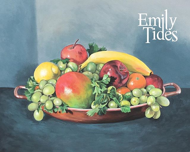 Happy Mother's Day! Here's a commissioned piece I did for the occasion ❤️ . . . . . . . . . . #emilytides #mothersday #mothersdaygift #painting #painter #art #artlife #artist #emilytidesart #acrylicpainting #fruitpainting #fruit #stilllife #realisticart