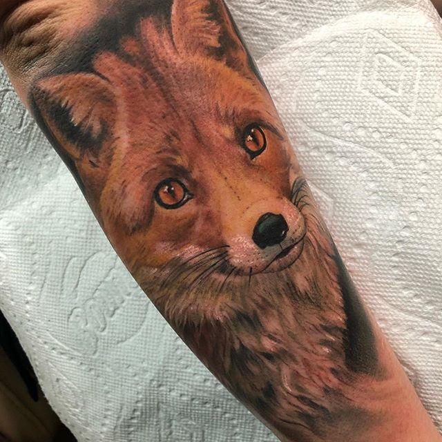 Did a fox today 🦉#nohardfox #nohardfeelings #eternalinks #worldfamousink #southflorida #juniperfoxx @juniperfoxx #fox #browardcounty #coralsprings #tattoo_art_worldwide #tattoos_of_instagram #tattoofreakz #inkedup #foxtattoo