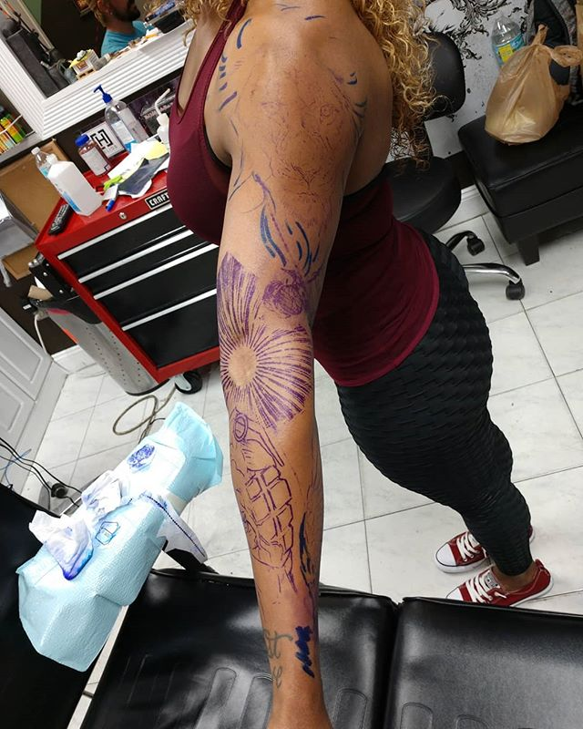 @saddias_construction_zone full sleeve. One day. BOOOM!!! #coralsprings #soflotattoos #tattoolife #inklife #inkedlife #dmactattoos