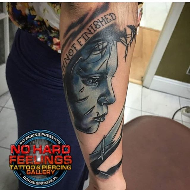 Tattoo done by @tedmendoza here @nohardfeelingstattoo . Call or come by to talk tattoos, piercings, and make an appointment!!! Walk-ins are always welcome, depending on our artists' availability; it's first come - first serve, so get here quick!!! . . . . . . #tattoo #tattoos #tattooing #tattooartist #southflorida #soflo #coralsprings #coralspringsflorida#coralspringsfl #southfloridatattoo#guyswithtattoos #guyswithink #guyswithpiercings #girlswithtattoos#girlswithink #girlswithpiercings #art #artists #blackandgreytattoo #colortattoo#blackandgreytattoos #colortattoos#blackandgrey #color #worldfamous #famous #worldfamoustattoo #famoustattoo
