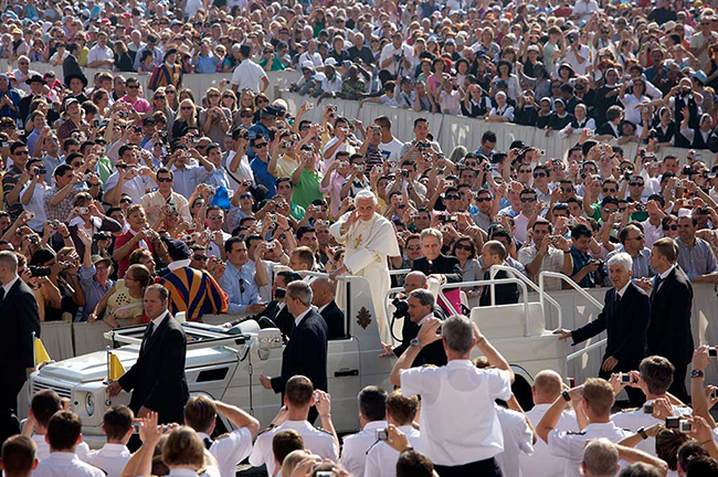 Pope with his followers, Rome