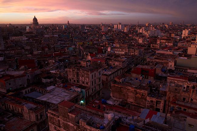 Skyline of Havana Cuba