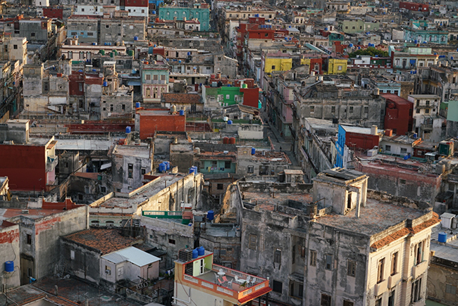 Buildings of Havana Cuba