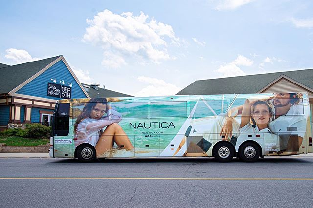 @nautica Taking over Woodbury Commons with our Shuttle Wraps.  Perfect for any advertisers trying to reach consumers actively spending 💵
