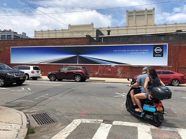 @nissan Making a BIG impact in Brooklyn, ahead of the E-Prix Race in Red Hook.  Check out these massive new Street-Level locations!!