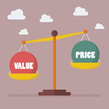 Value vs. Price graphic