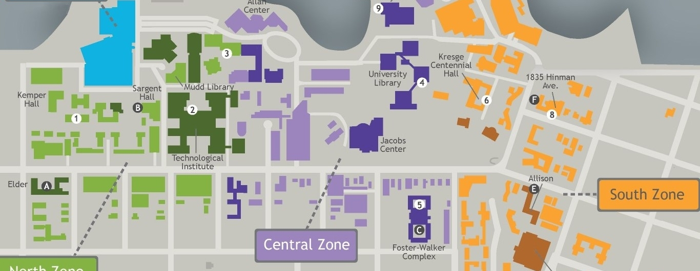 University Campus Map for Strategic Planning