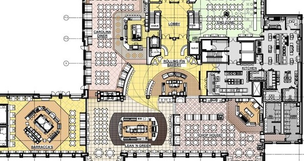UNC Chapel Hill, Rams Head Dining Hall: Capital Project Planning - Envision Strategies; Foodservice Design - Ricca Design Studios; Architecture – Ayers Saint Gross Architects