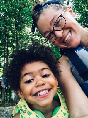 My beautiful niece and I canoeing, summer 2018.