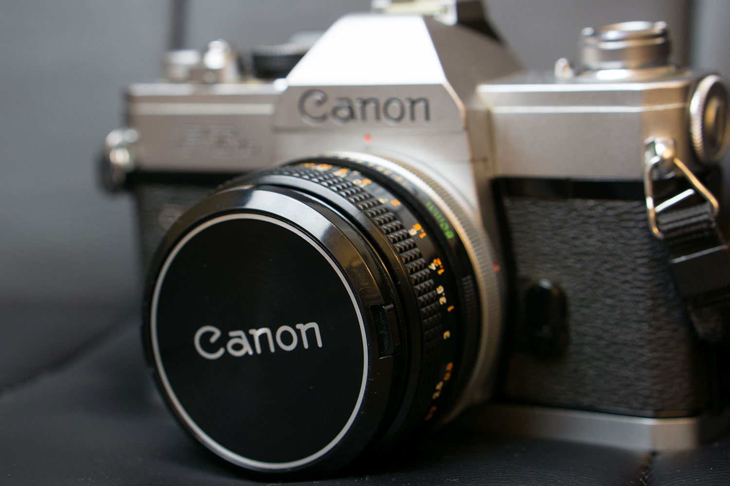 This was my first film camera - a Canon FTb. I still own it and use it today.