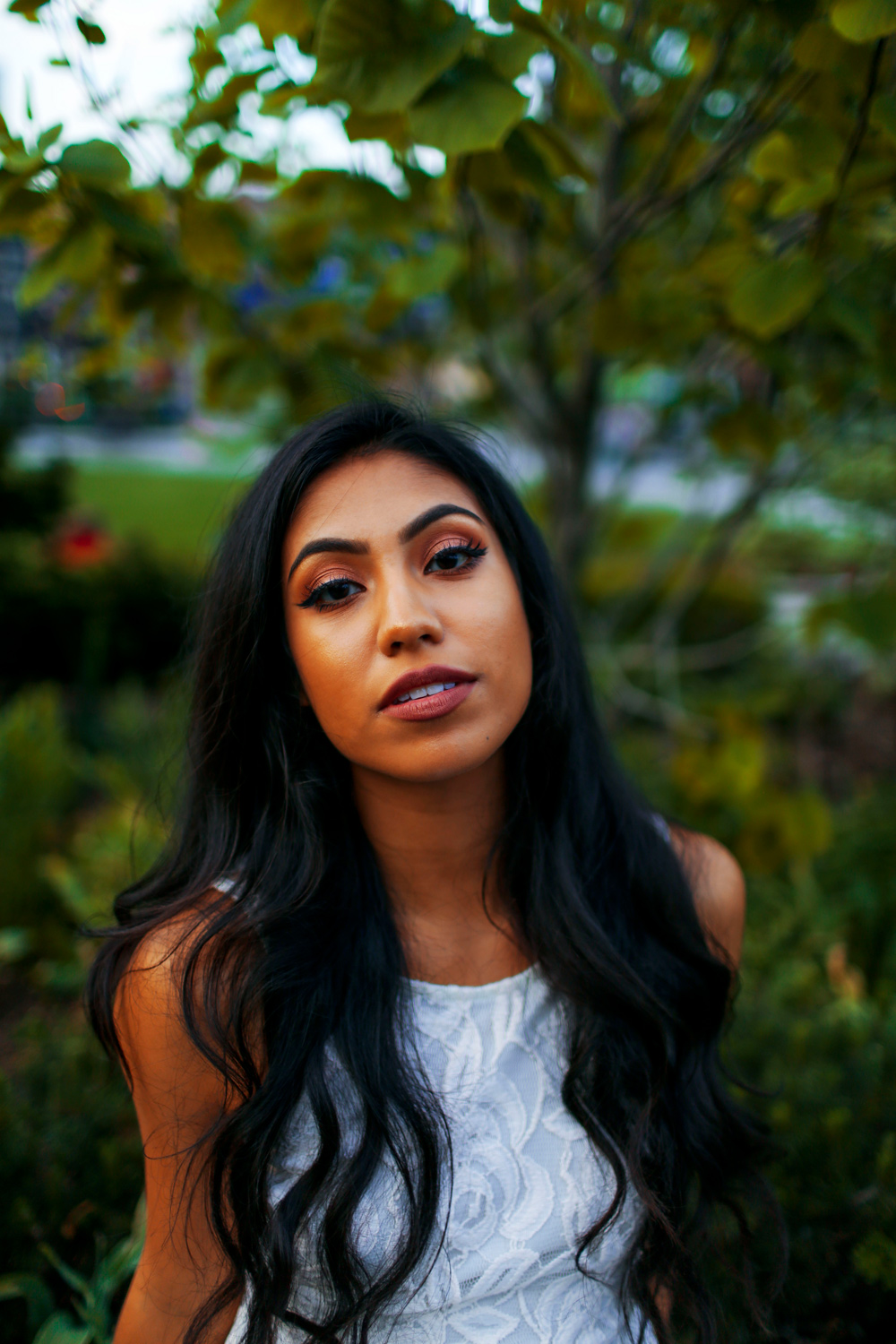 Model @arelivanessa. Image shot at f/1.4 to provide nice falloff in the background behind subject.