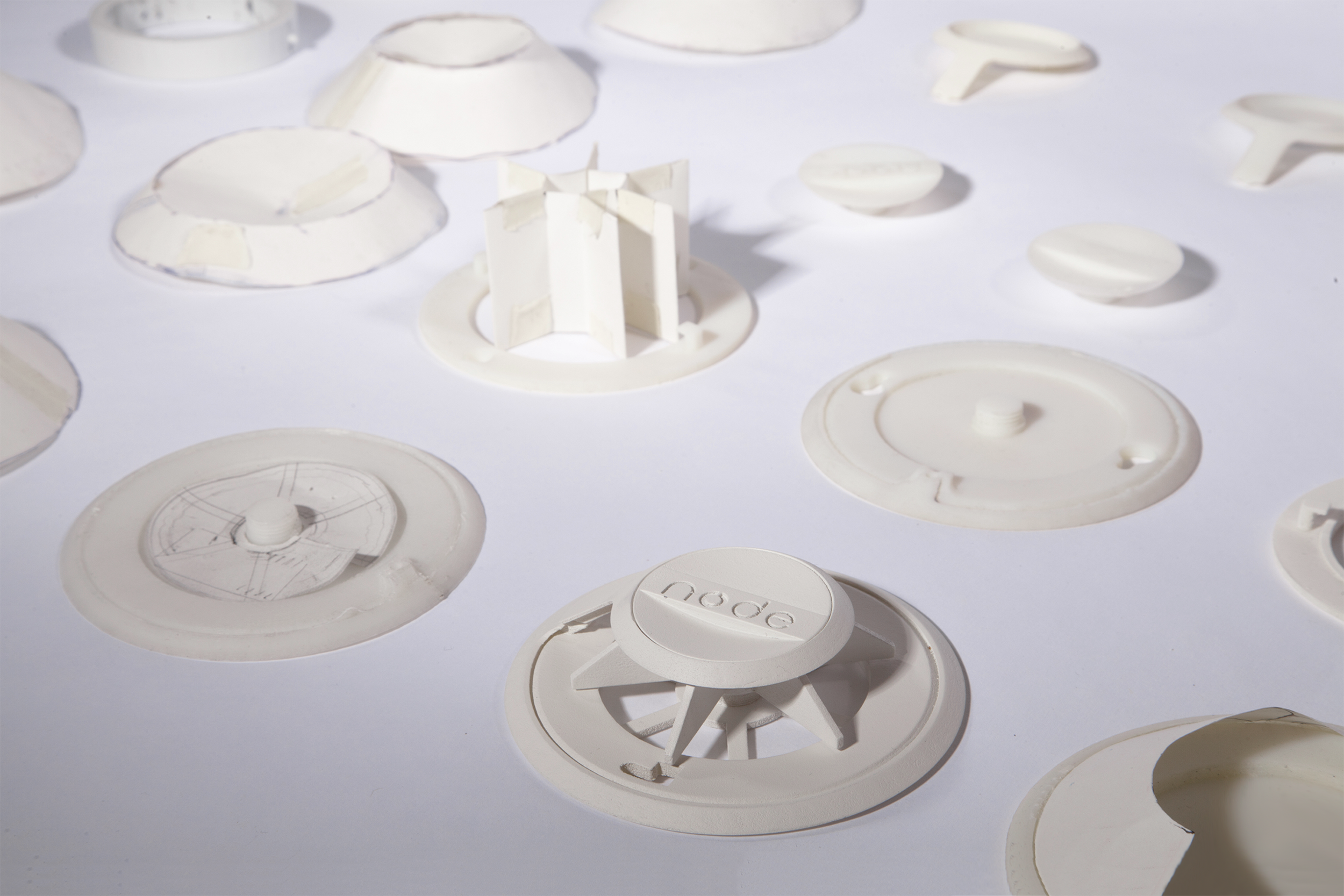 Prototyping - The design went through dozens of iterations to refine the size, shape, look and feel of the product.