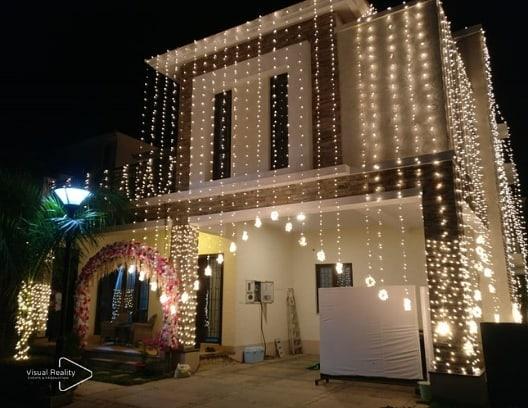 Fairy lights setting the mood for celebrations at the bride's home ✨  #weddingdecorideas #indianwedding #weddingdecor #weddingplanner #lightsdecor #homedecor #wedding #visualrealityeventsandproduction #vrep #decorideas #wedmegood #weddingsutra #popxoweddings