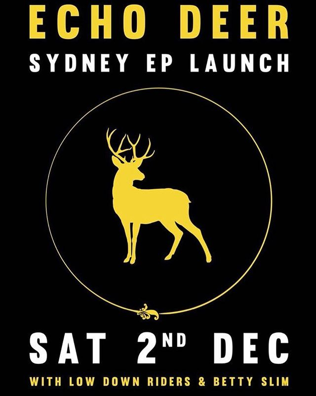 Awww yeah! Our buddies @echodeermusic are putting on a show at @unionhotelnewtown tonight to celebrate the launch of their fantastic EP, Side B We are kicking things off at 9pm.  #echodeer #lowdownriders #bettyslim  #launch #music #newtown