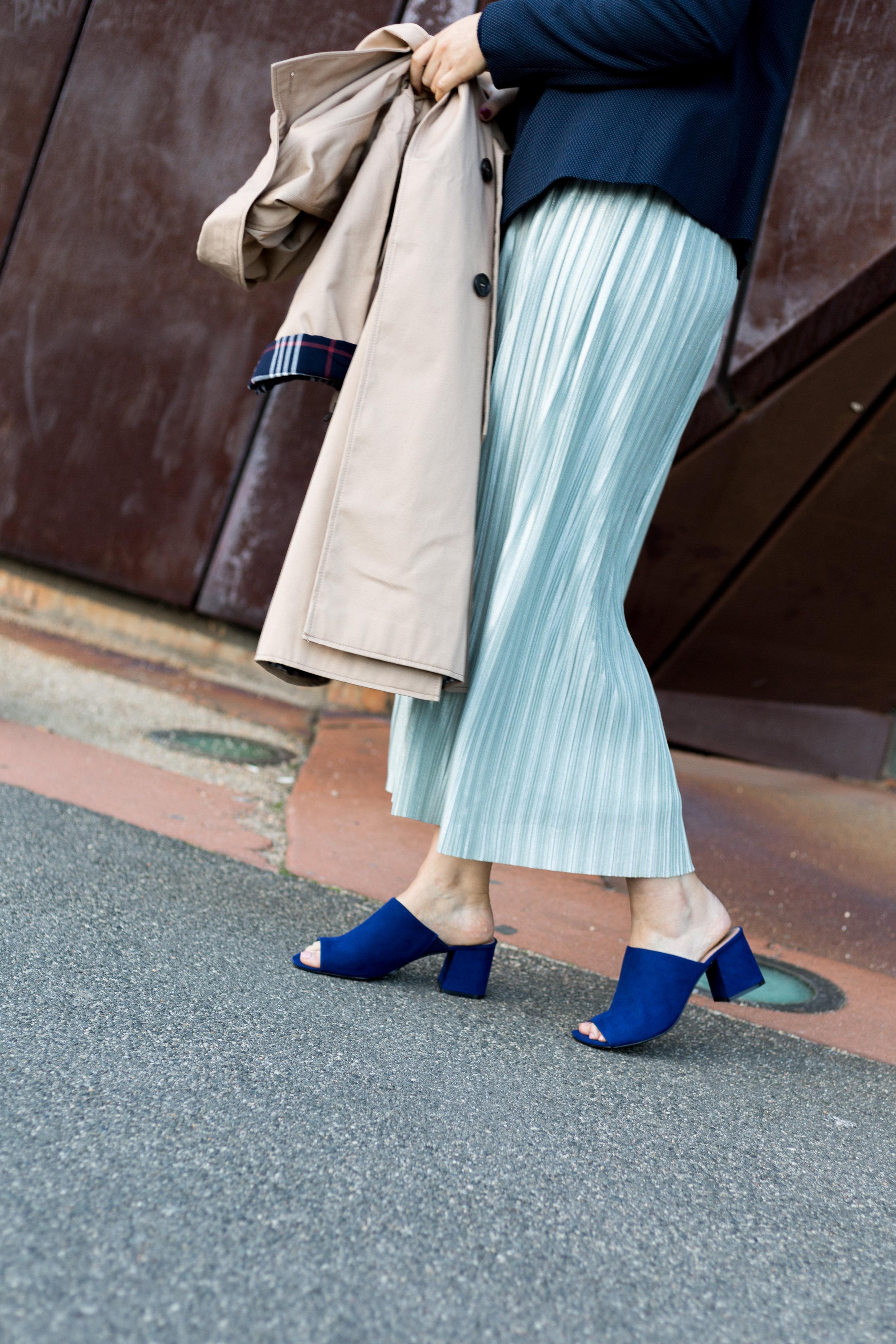 M&S plisse-duck-egg-skirt