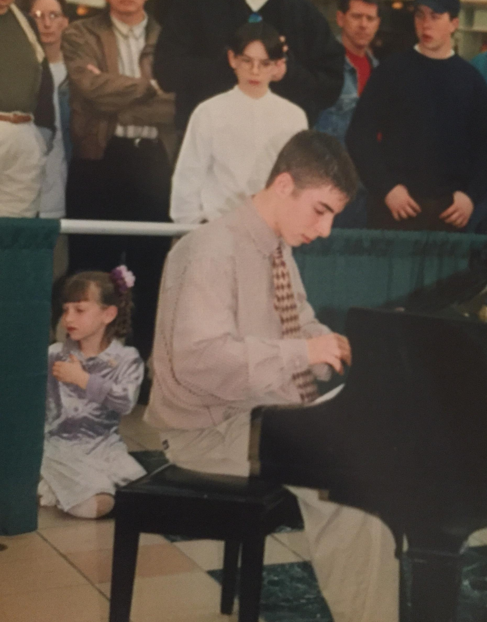 Eighth-grade me competing in a local piano competition...